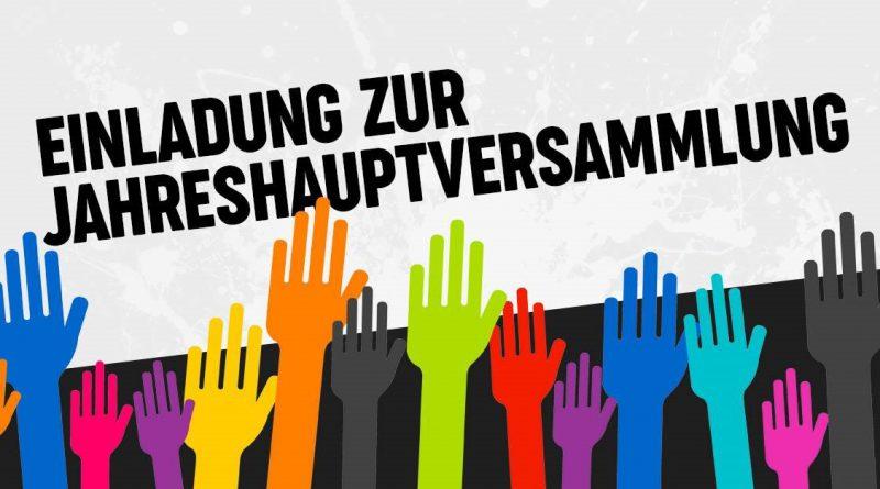 Einladung zur Jahreshauptversammlung mit Neuwahl